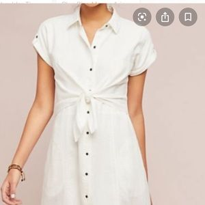 NWT // Anthropologie Maeve white dress sz 14